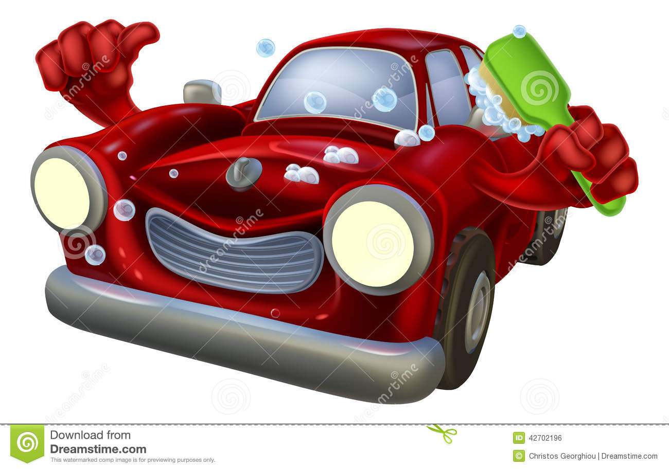 Cartoon Car Wash Stock Vector Image 42702196
