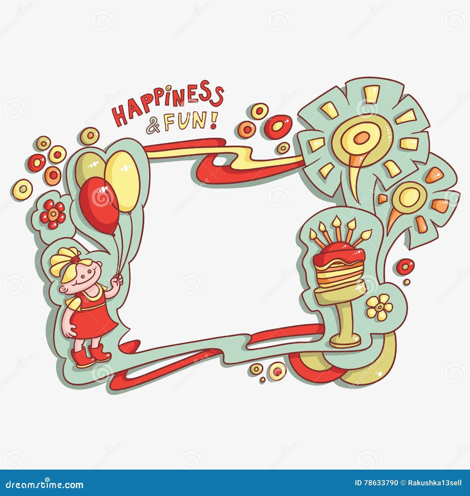 c4e40ab03554 Cartoon Card Happy Birthday