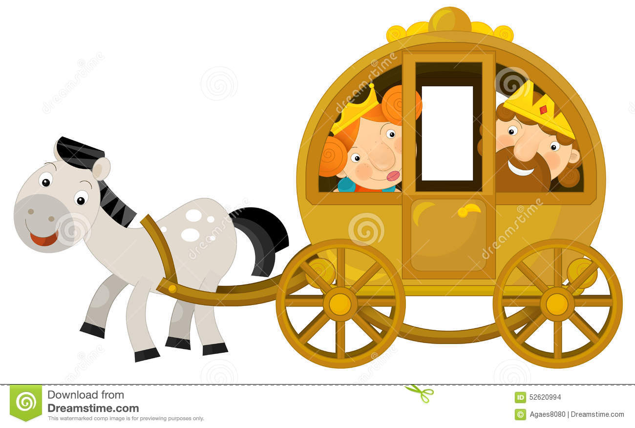 Cartoon Carriage For Fairy Tale Stock Illustration   Image  52620994