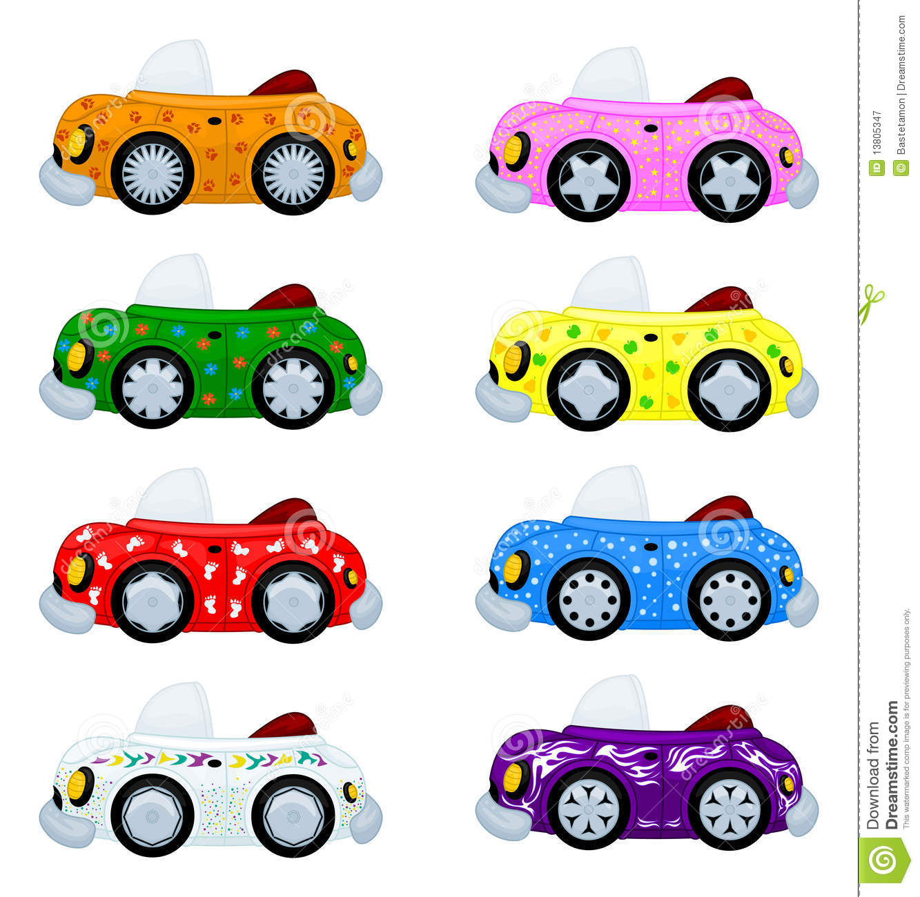Cartoon Cars Stock Vector. Illustration Of Auto, Drawings