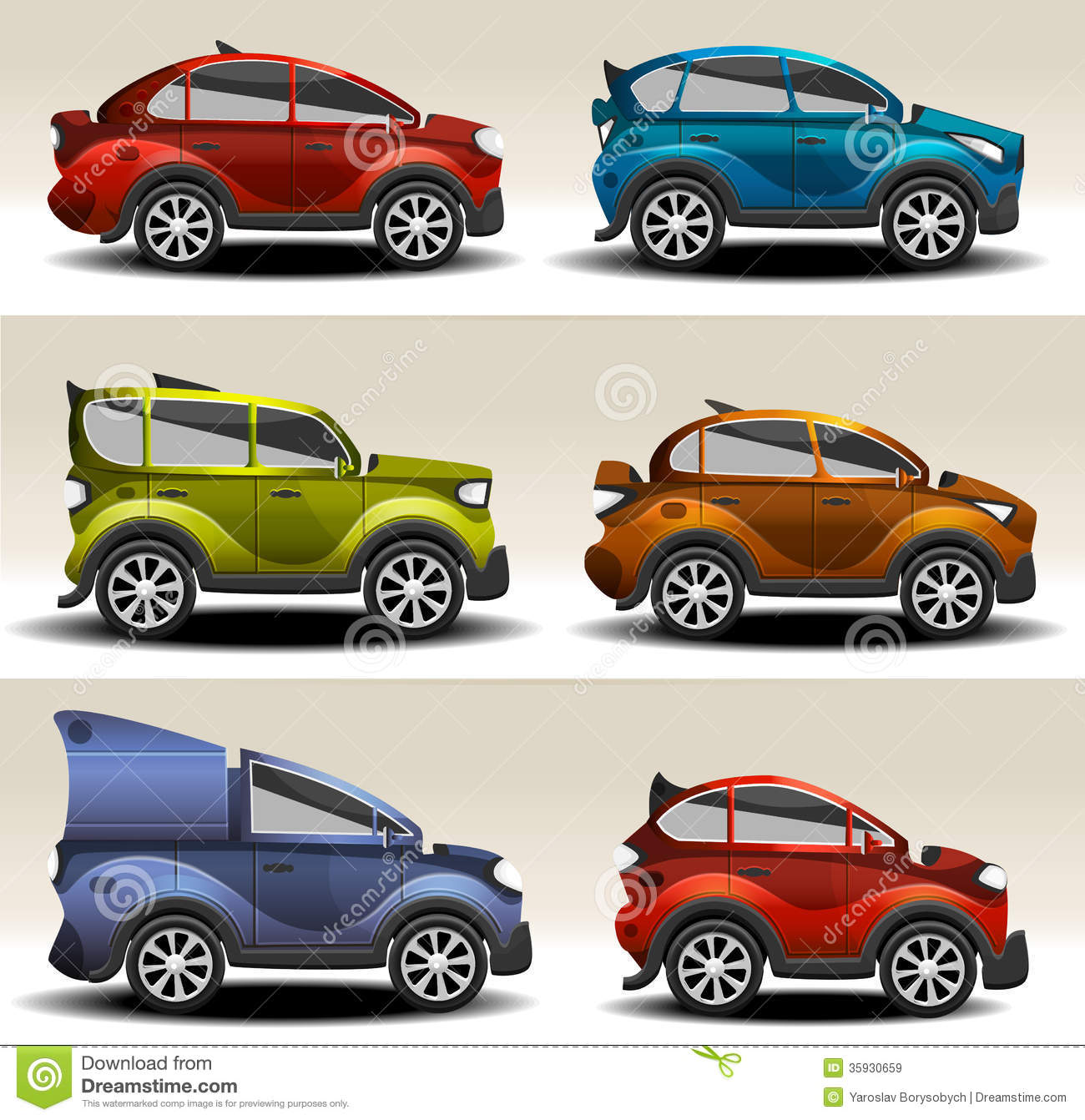 Cartoon Cars Royalty Free Stock Images Image 35930659