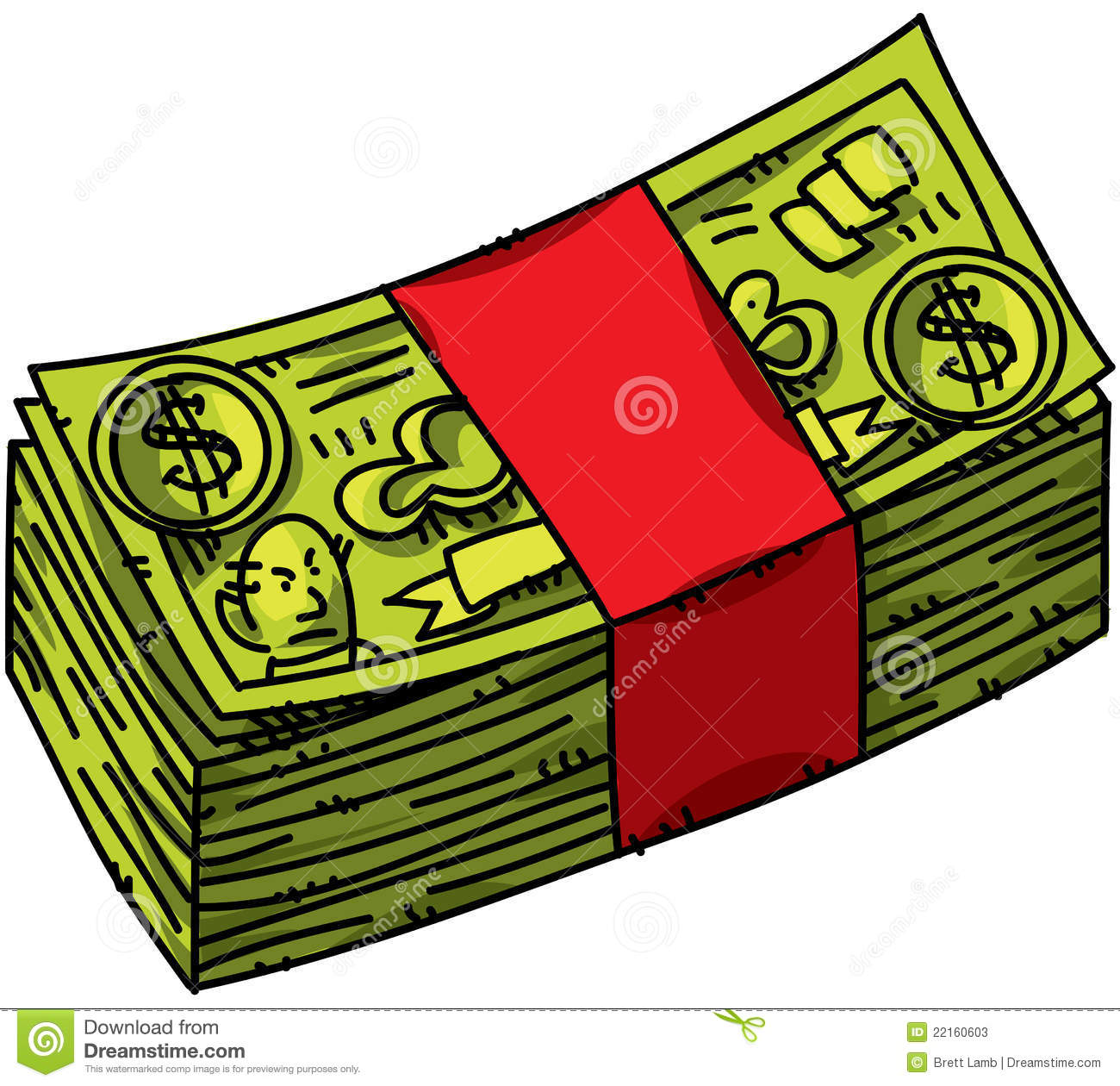 Cartoon Cash Stock Photos - Image: 22160603