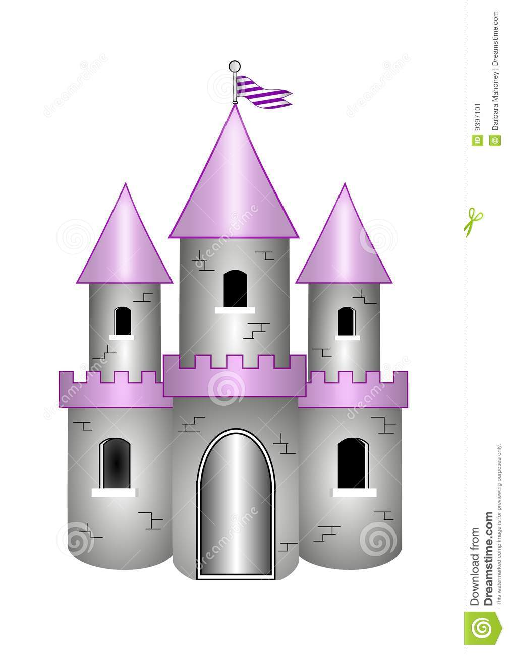 Cartoon Castle Stock Image - Image: 9397101