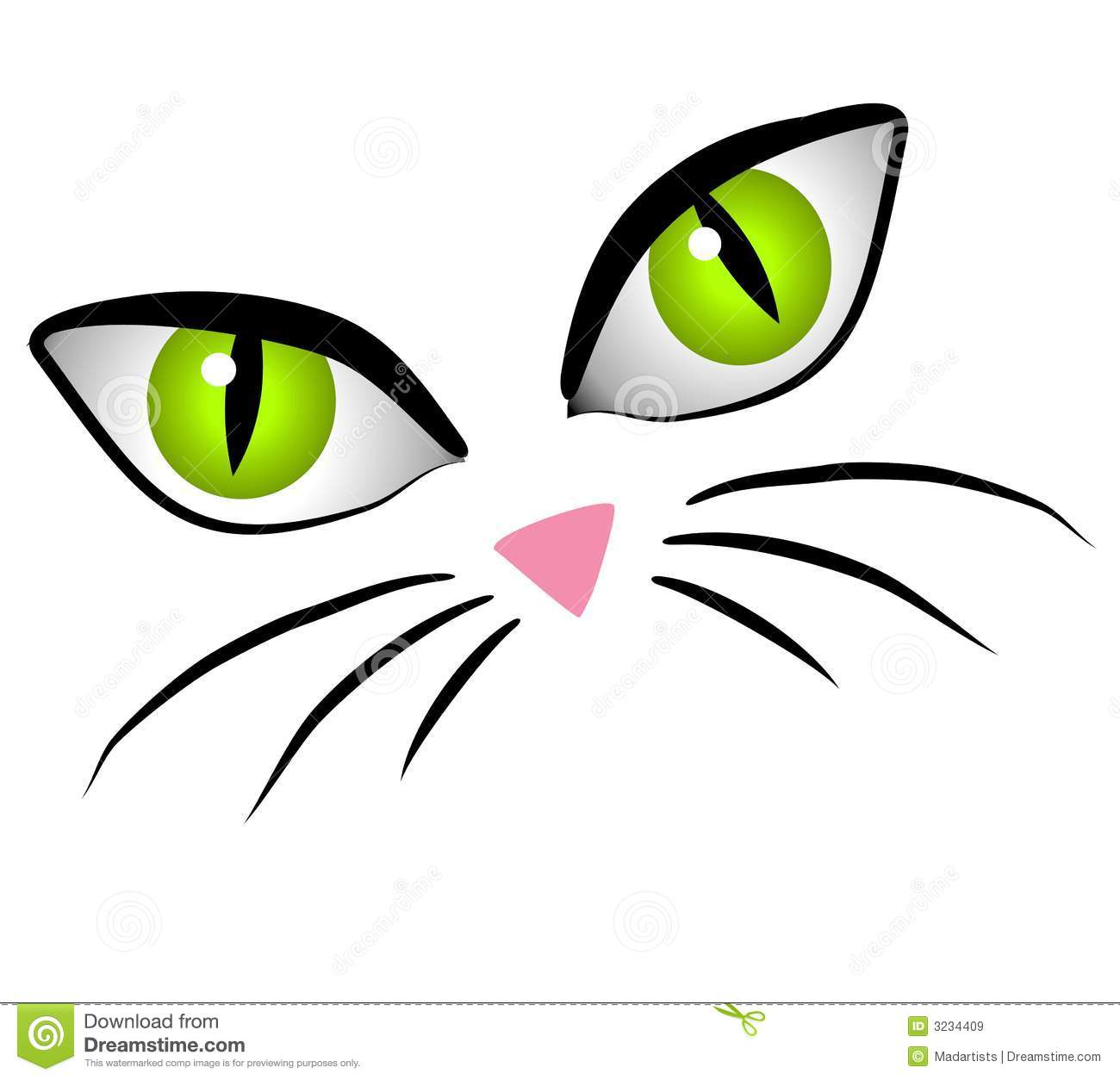 cartoon cat face eyes clip art stock illustration illustration of rh dreamstime com cat face clipart black and white cat face clipart images