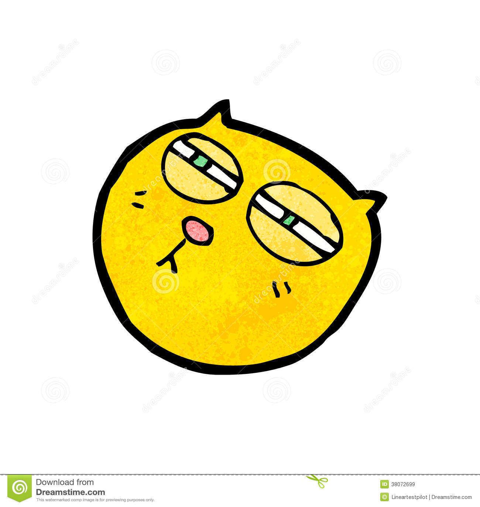 Cartoon Cat With Crazy Eyes