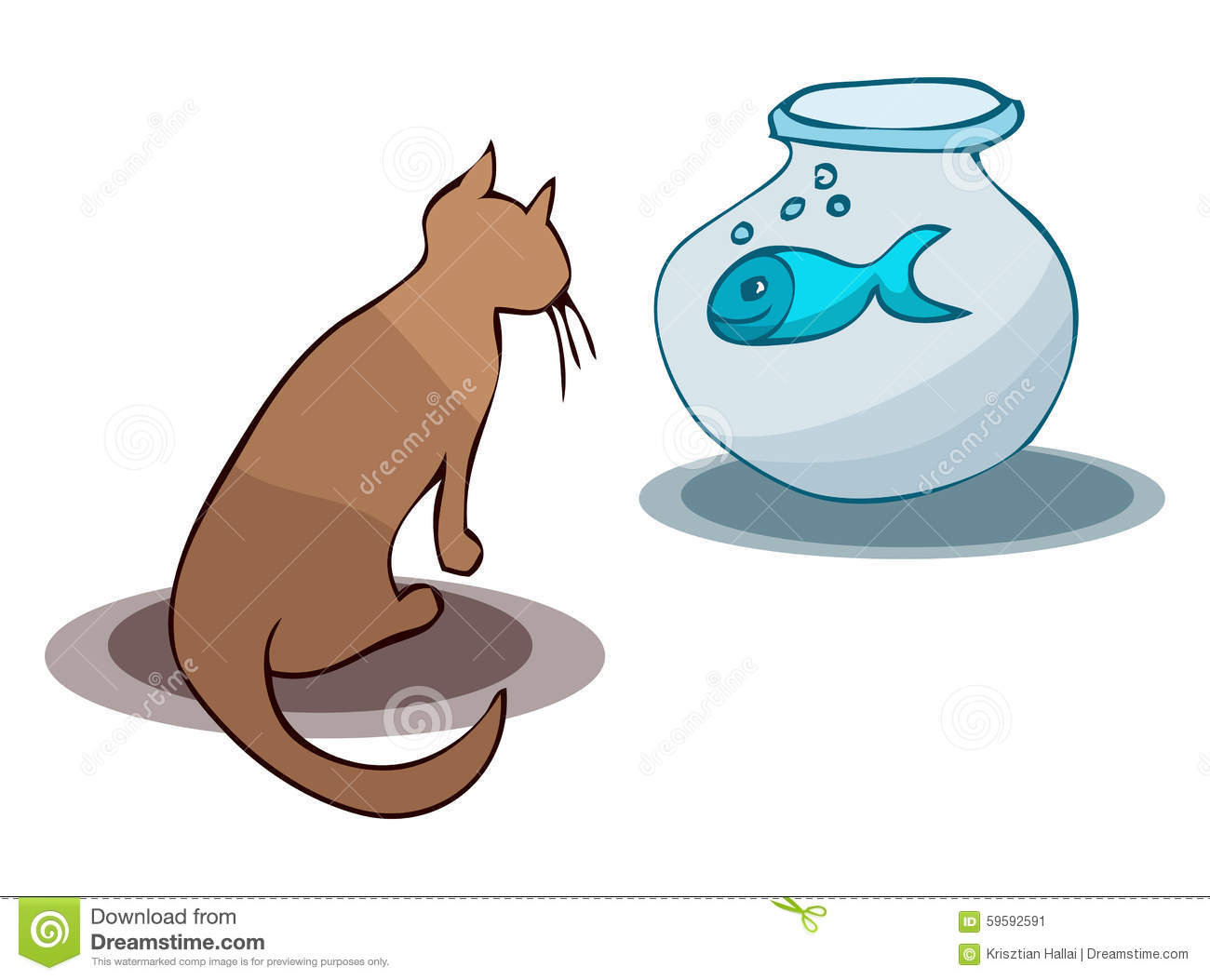 Cat Getting Into Fishbowl