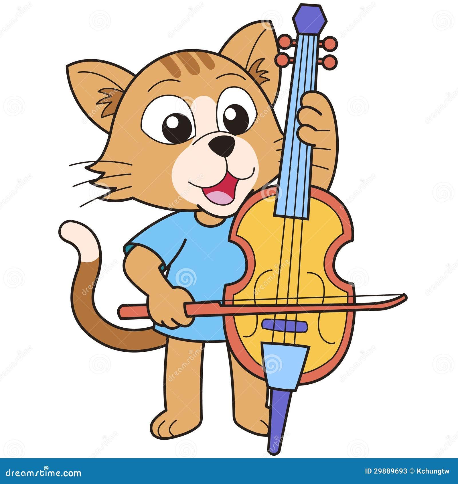 Cello cartoon cello player stock photography image 32561422 - Cartoon Cat Playing A Cello Stock Photos