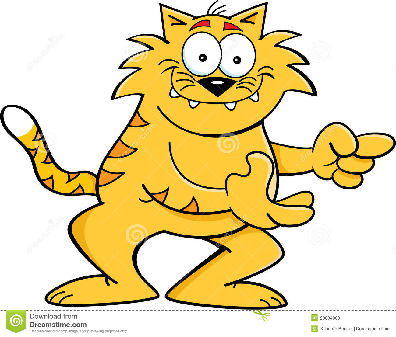 Cartoon Cat Pointing Royalty Free Stock Photos - Image: 28084308