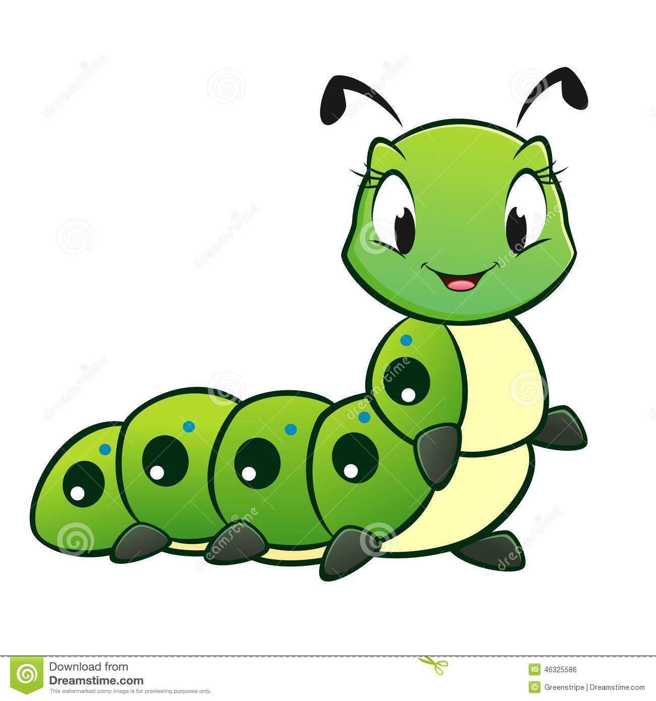 Cartoon Caterpillar Stock Illustration - Image: 46325586