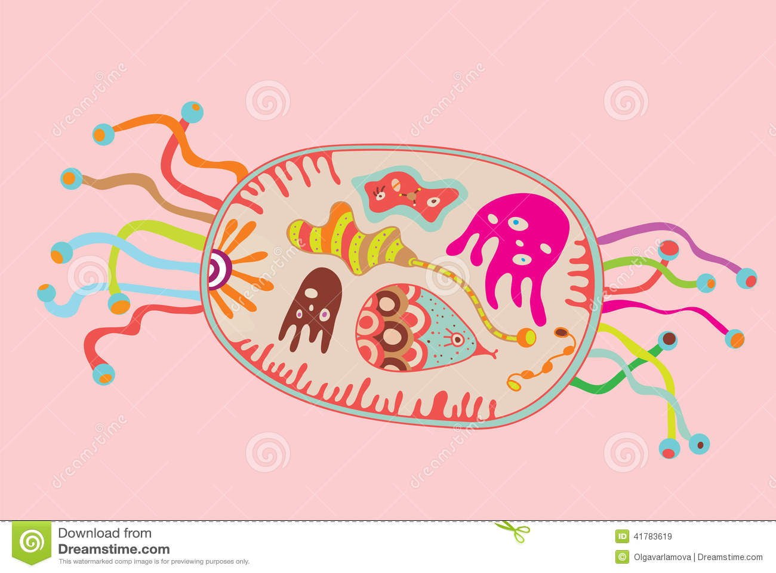 Cartoon Cell Stock Vector - Image: 41783619
