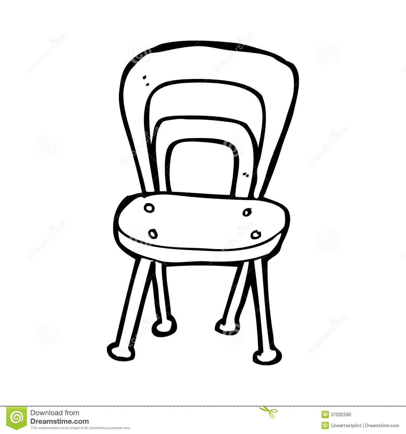 Black and white chair drawing - Stock Photo Cartoon Chair Black White Line Retro Style Vector Available Image37032590 Jpg 1300x1390 White Chair