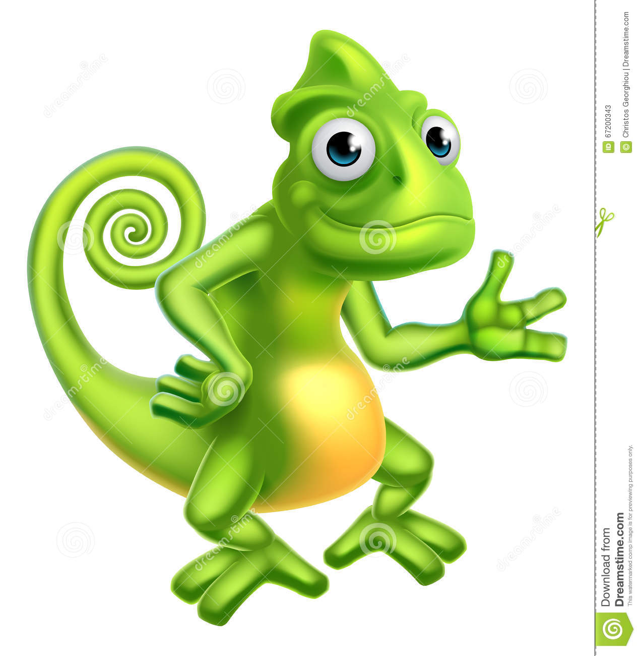Cartoon Chameleon Stock Vector - Image: 67200343