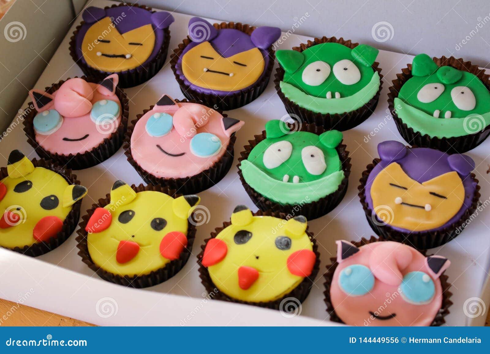 Fine Cartoon Character Theme Birthday Cake Stock Photo Image Of Funny Birthday Cards Online Fluifree Goldxyz