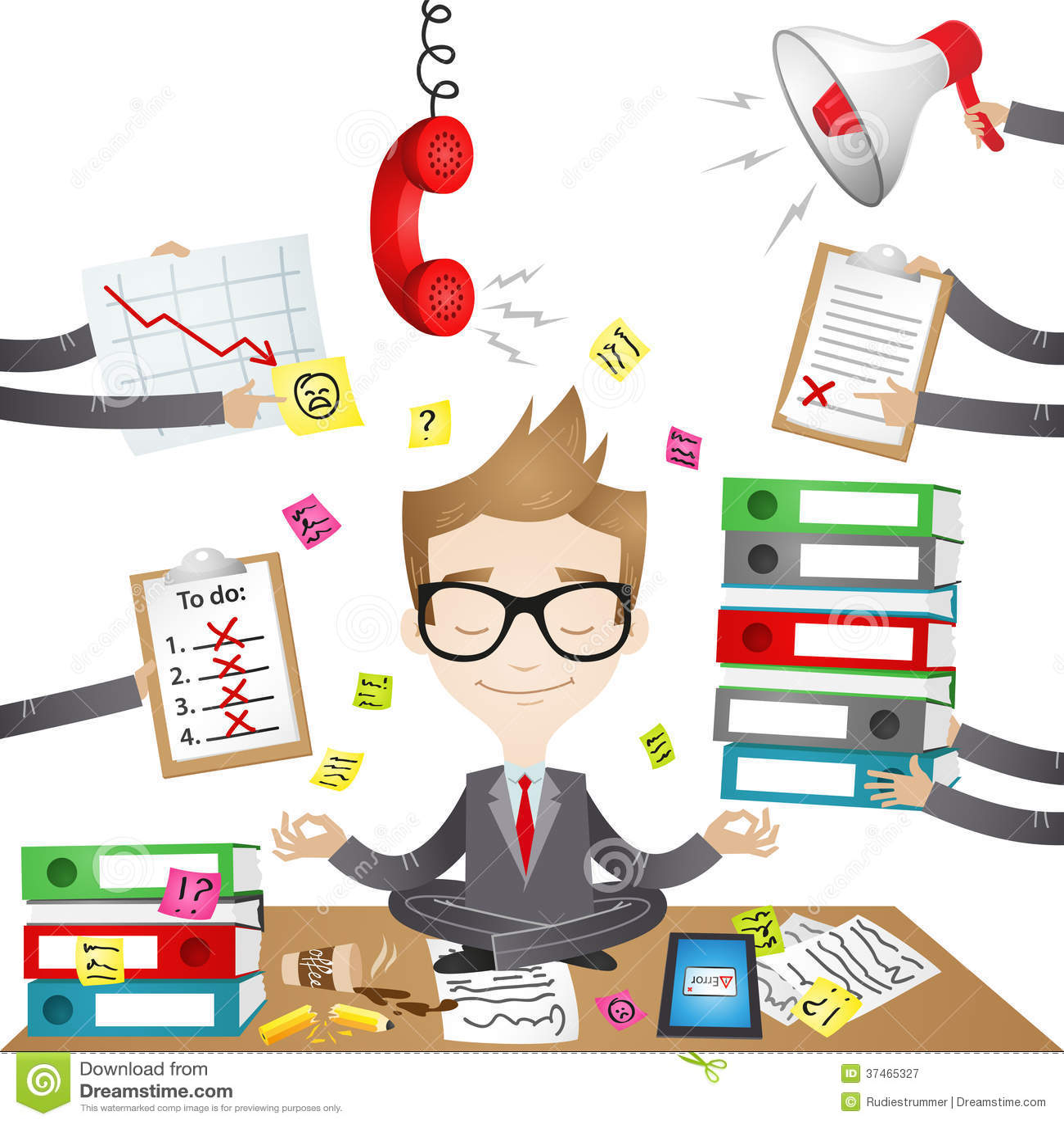Cartoon Character: Calm Businessman Royalty Free Stock ...