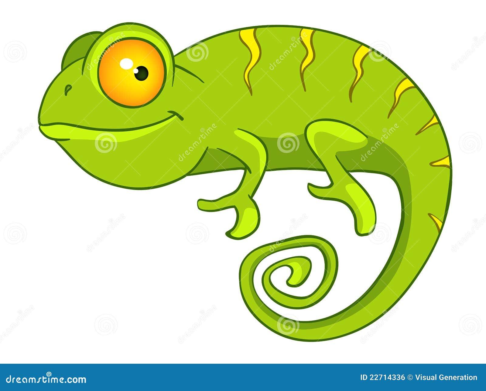 Royalty Free Stock Image: Cartoon Character Chameleon. Image: 22714336