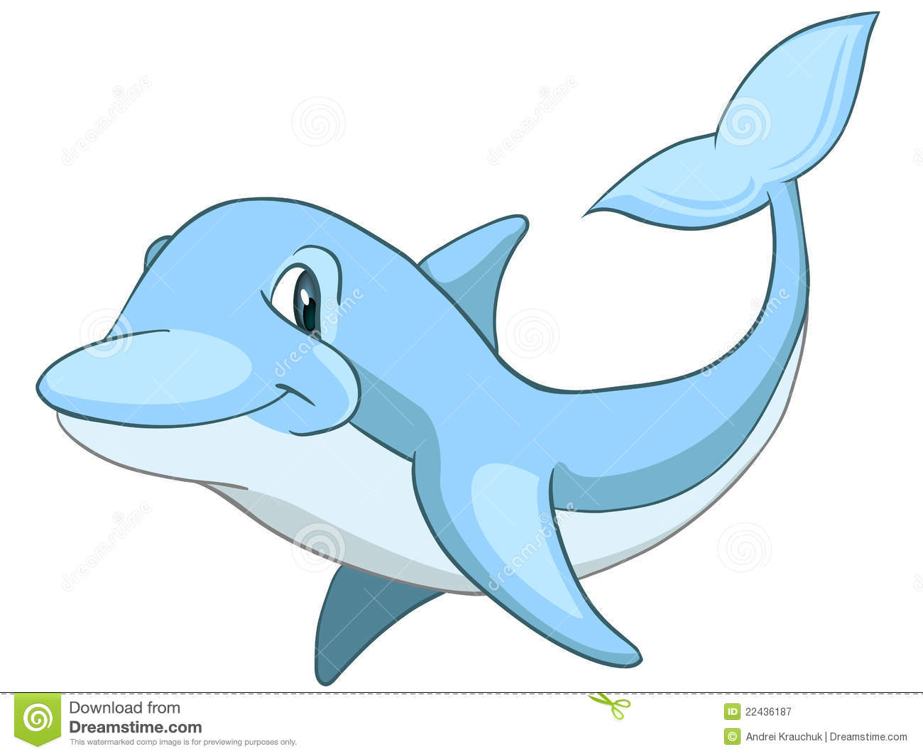 Cartoon Character Dolphin Royalty Free Stock Photography - Image ...