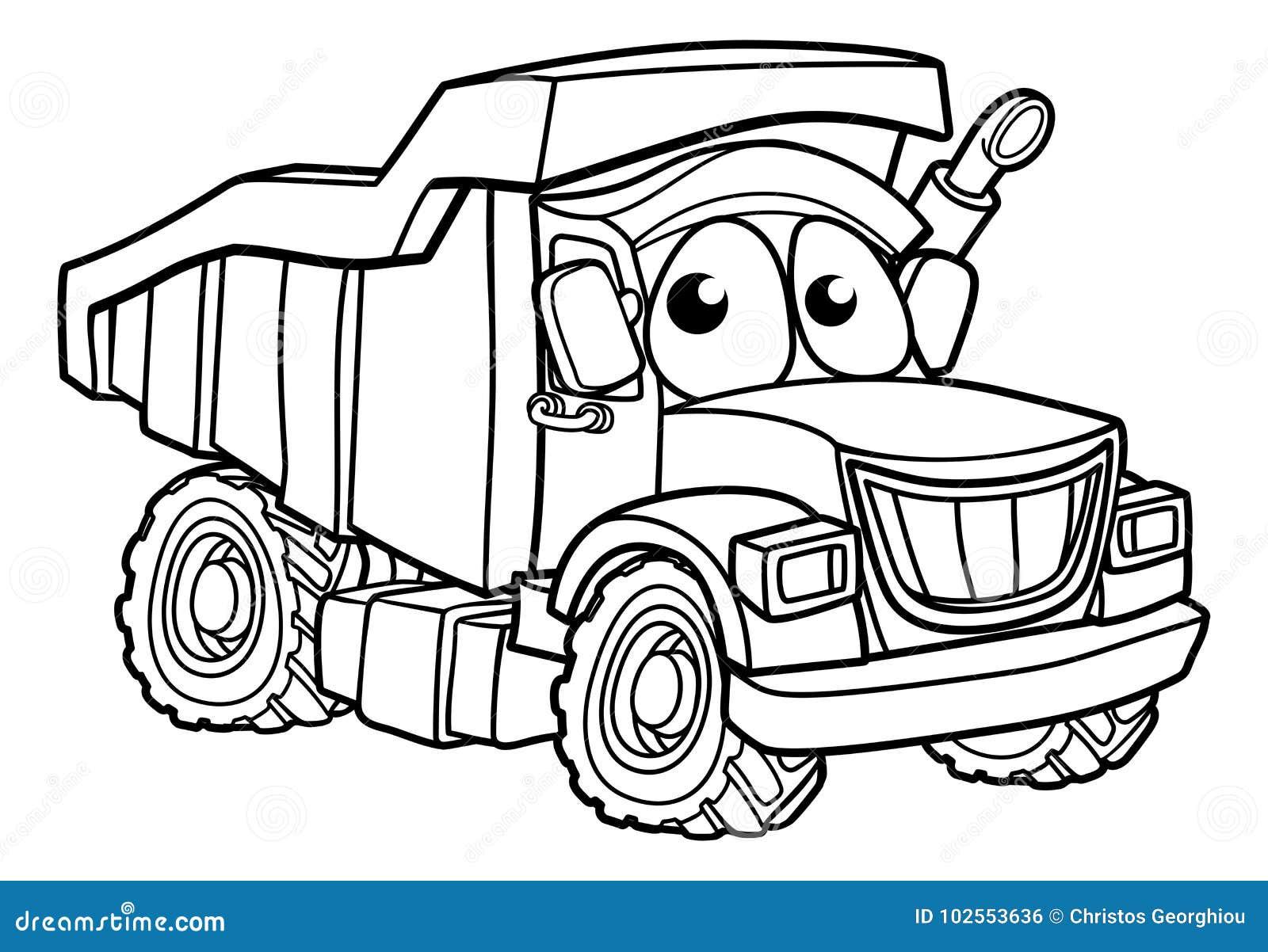 Cartoon Character Dump Truck Stock Vector - Illustration ...