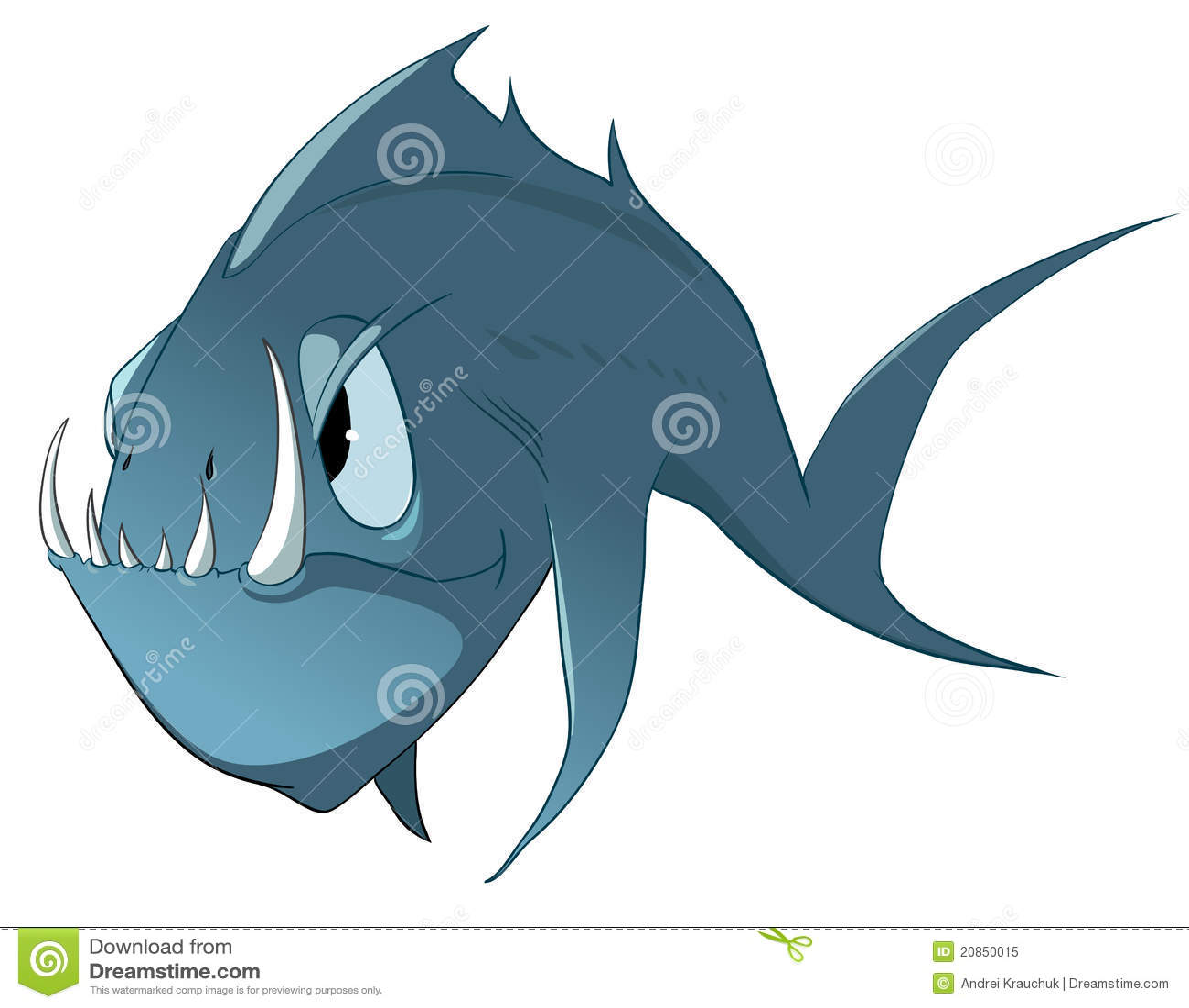 Cartoon Character Fish Stock Vector. Illustration Of