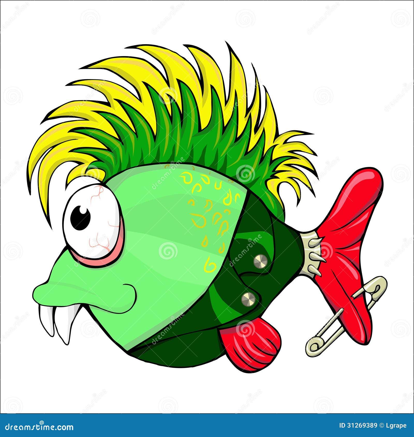 Fish Punk . Stock Illustration