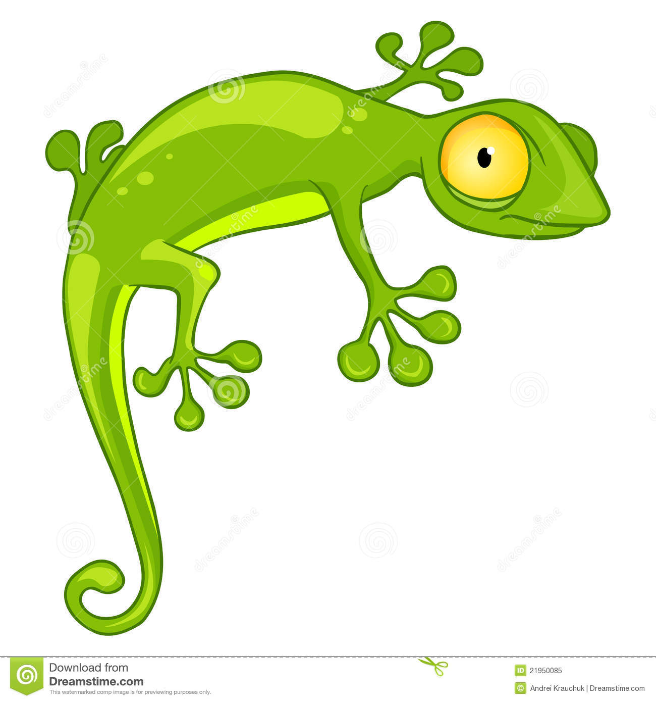 Cartoon Character Lizard Royalty Free Stock Photo - Image: 21950085