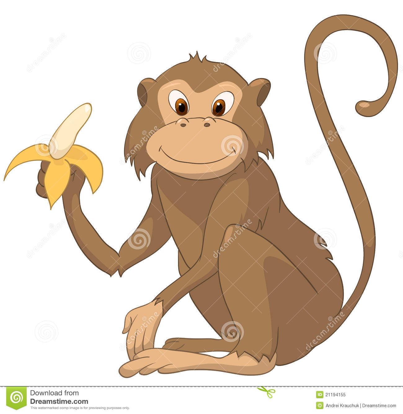 Cartoon character monkey stock vector illustration of