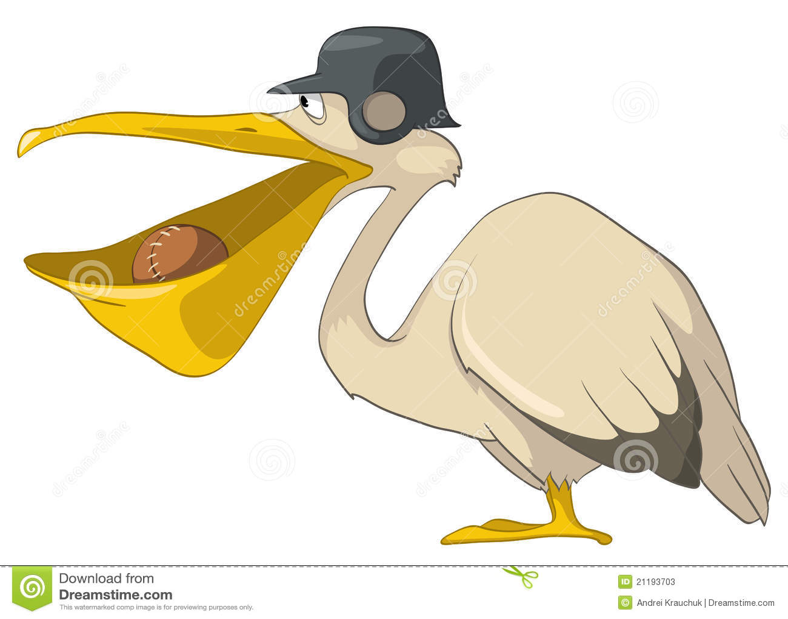 Cartoon Character Pelican