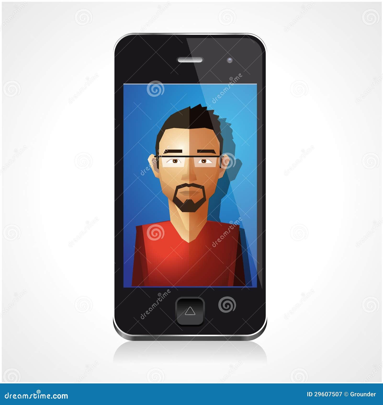 Cartoon Characters Phone Numbers : Cartoon character smartphone royalty free stock