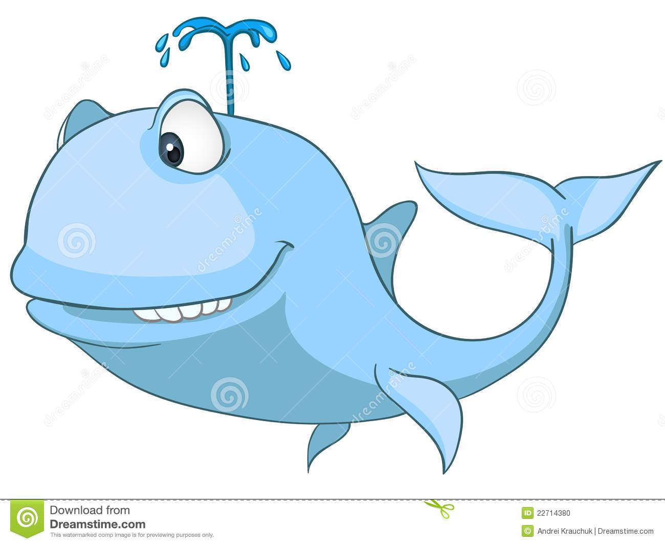 Cartoon Character Whale Stock Photo - Image: 22714380