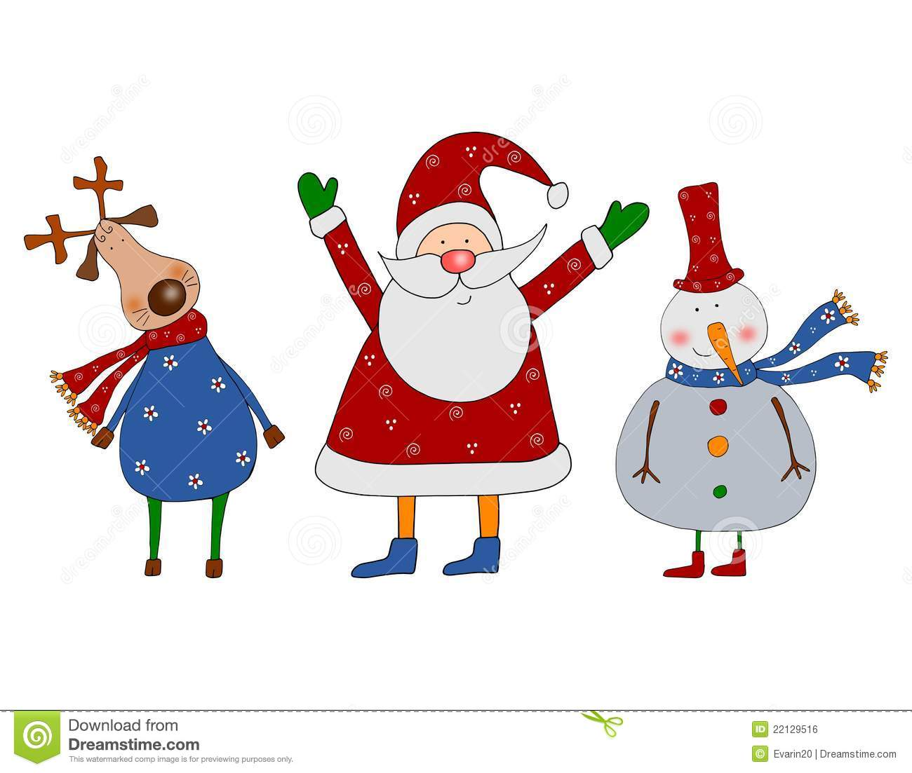 E Card Cartoon Characters : Cartoon characters christmas card royalty free stock