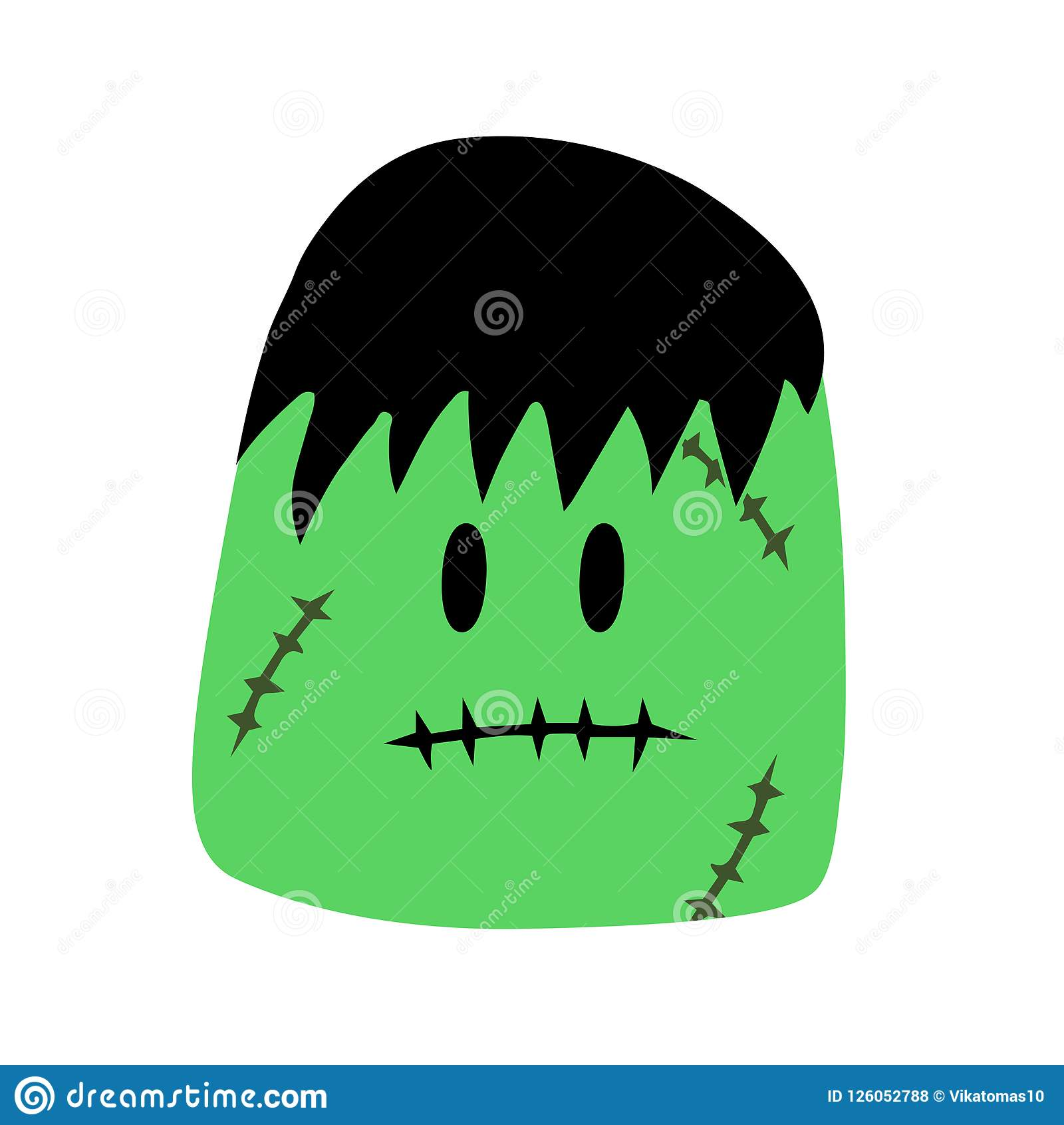 Frankenstein Cartoon Characters For Halloween,Wear Zombie