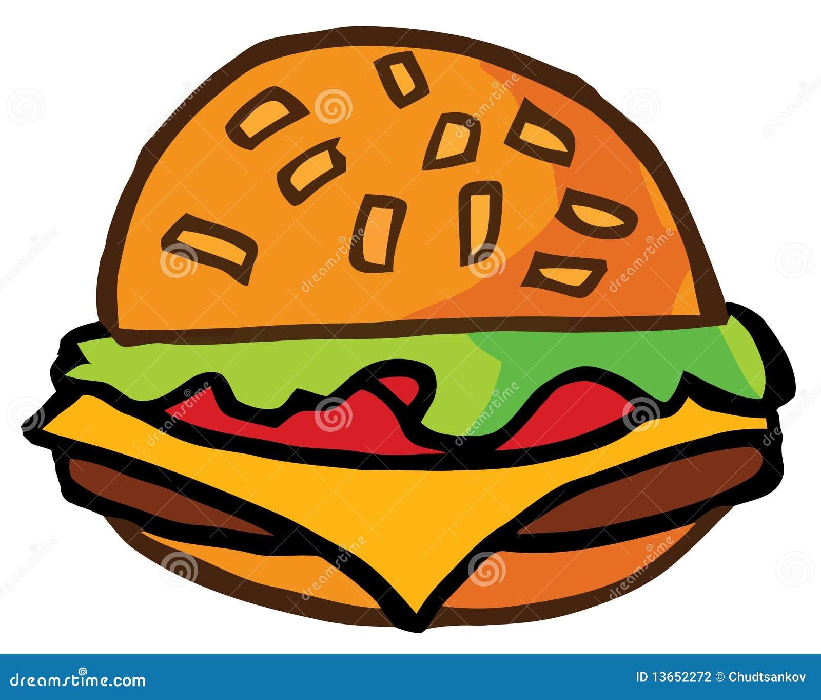 Cartoon Cheeseburger Stock Photography - Image: 13652272