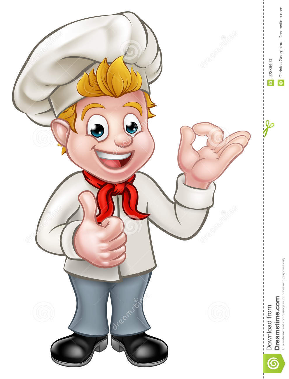 Cartoon Chef Or Baker Character Stock Vector - Image: 92336403