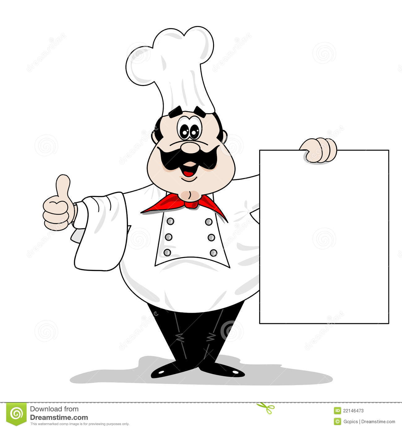 cartoon chef cook stock vector illustration of board 22146473. Black Bedroom Furniture Sets. Home Design Ideas