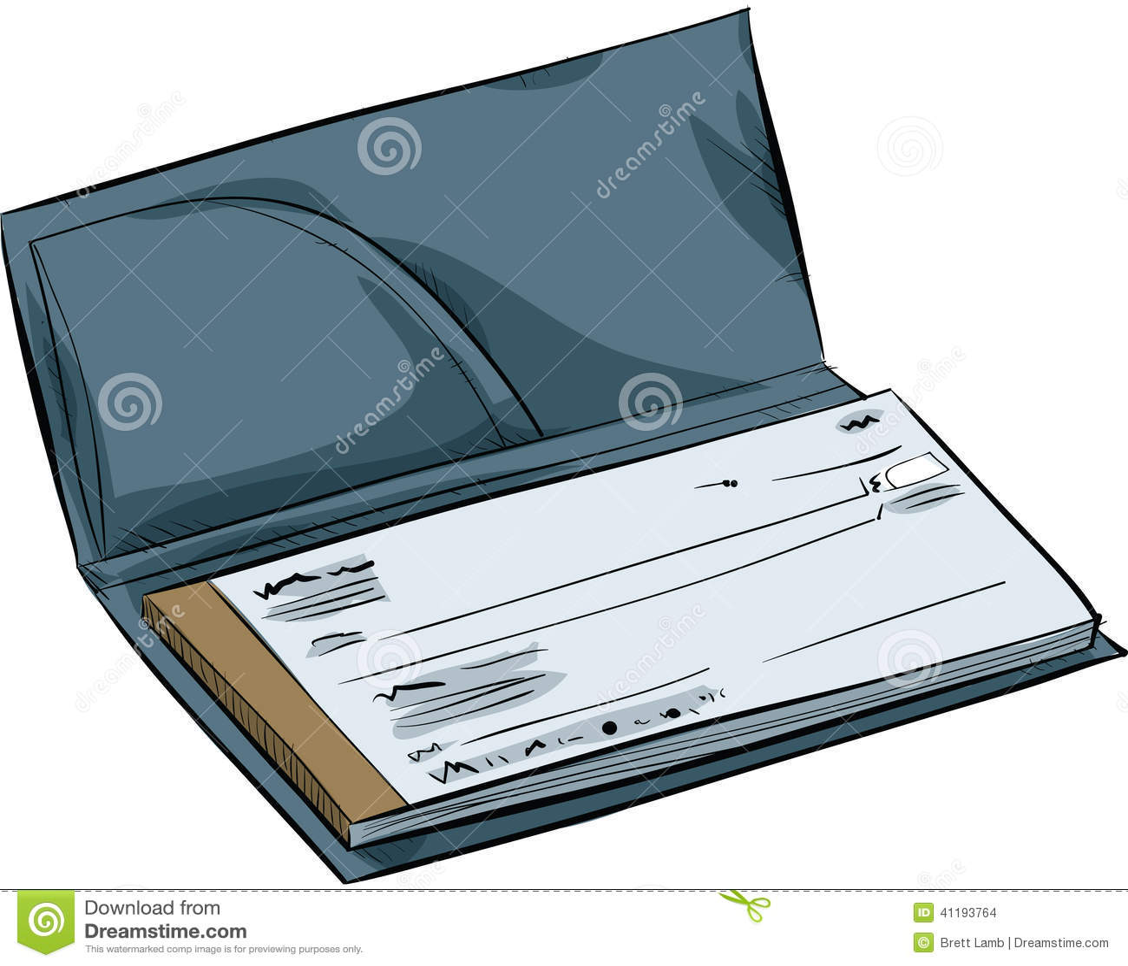 Cartoon Chequebook Stock Illustration Image 41193764