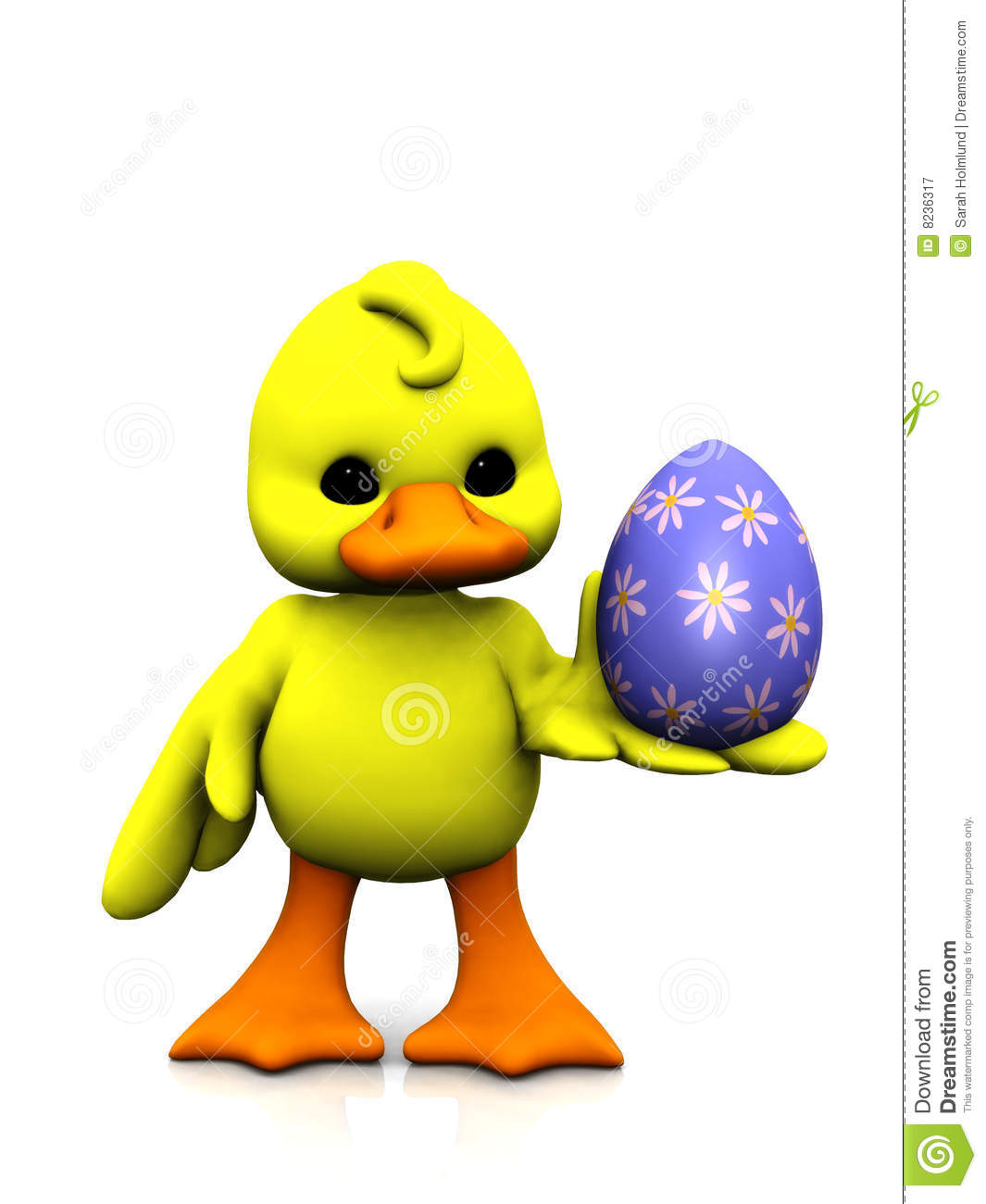 cartoon chicken with easter egg royalty free stock
