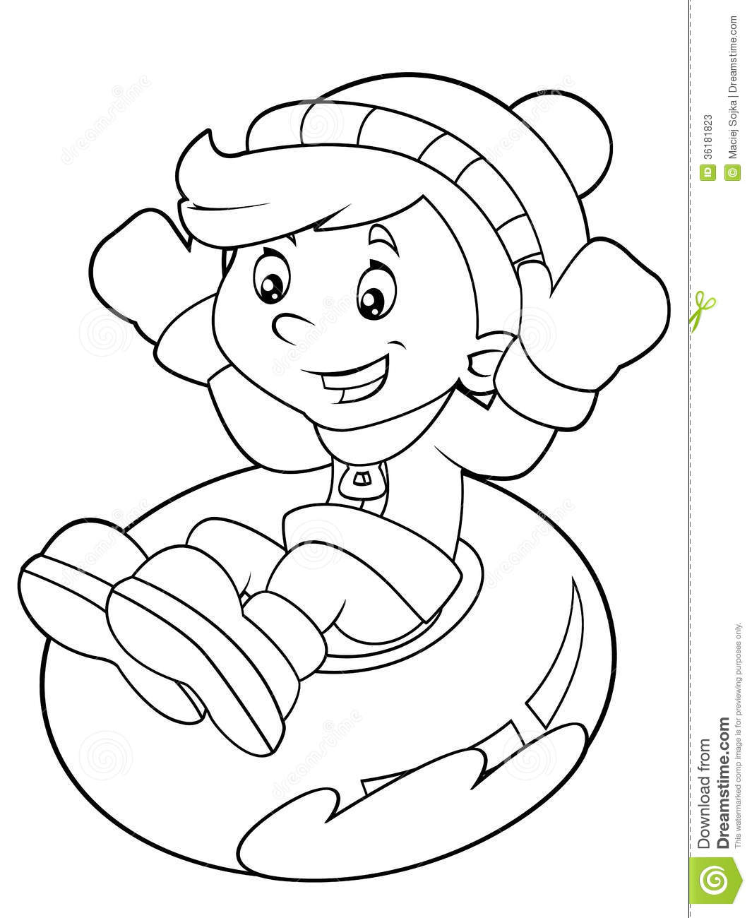Cartoon Child Activity Illustration For The Children
