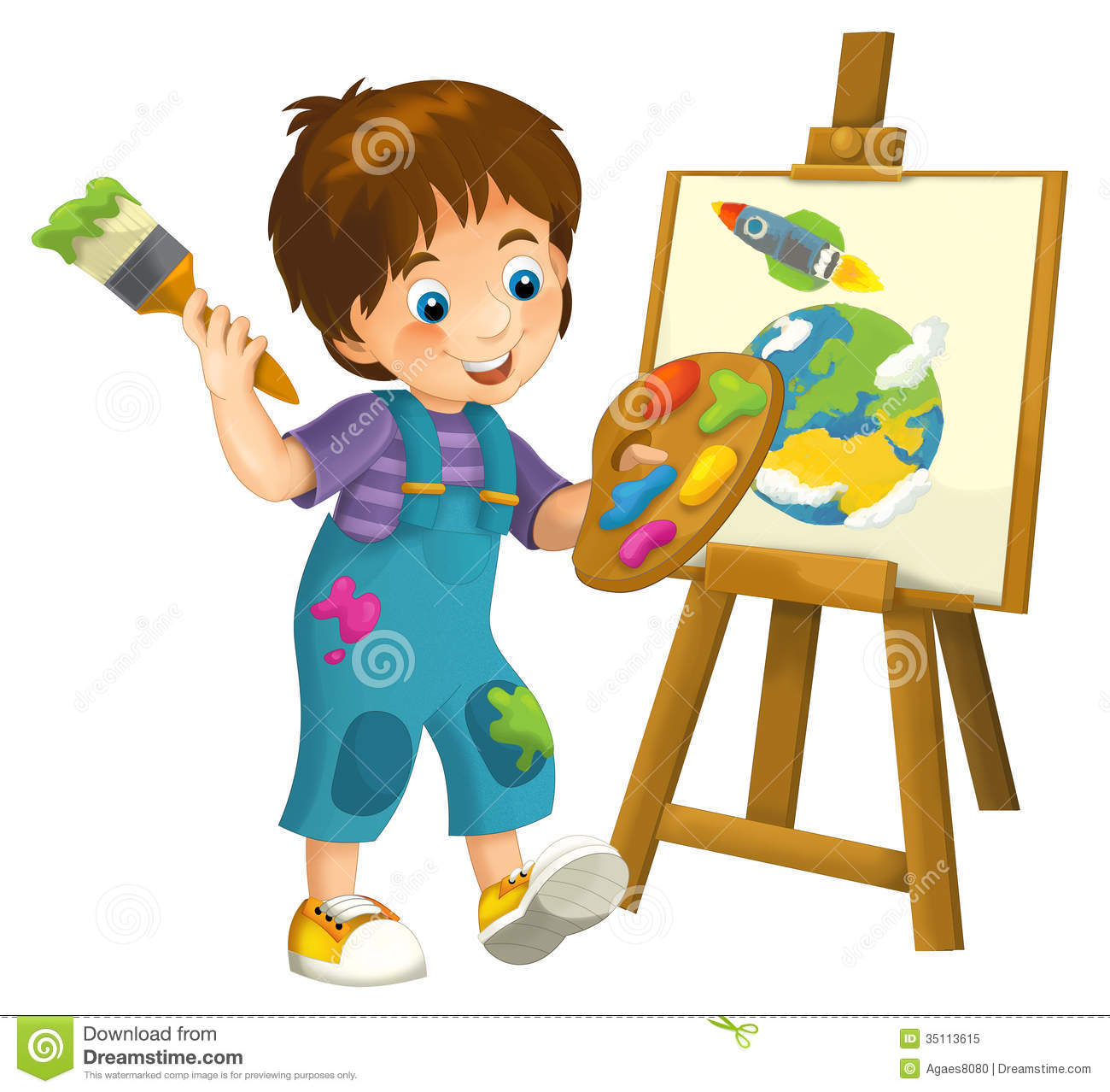 cartoon child illustration for the children royalty free stock photo - Cartoon Children Pictures