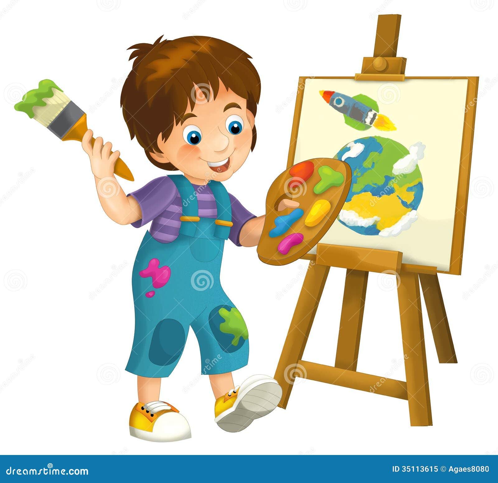 Cartoon Child - Illustration For The Children Royalty Free Stock Photo ...