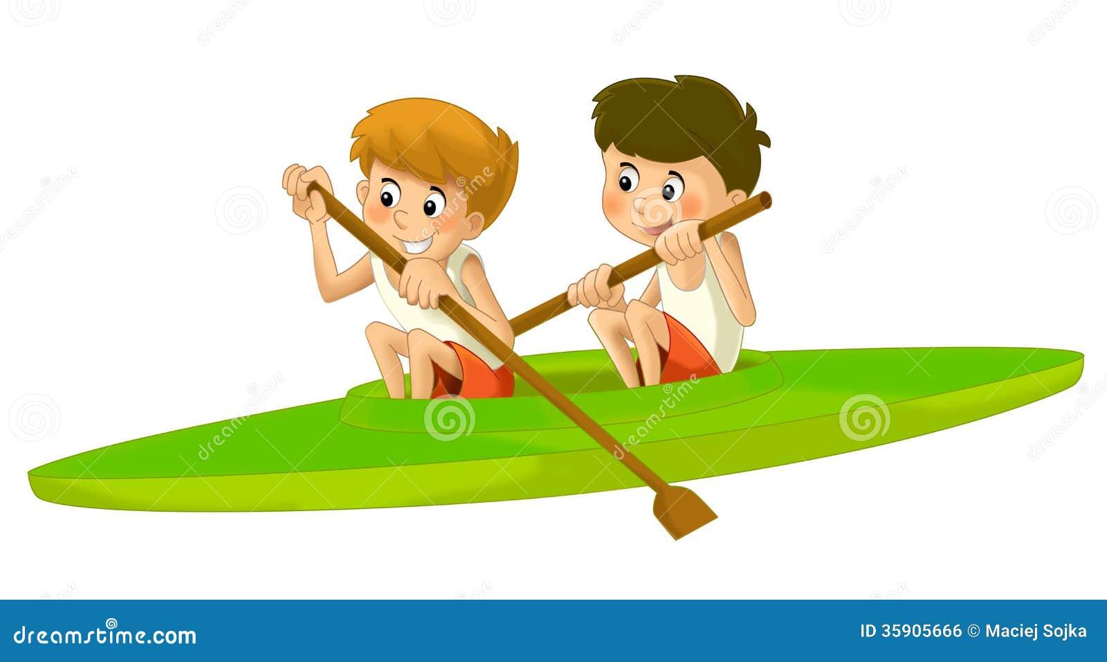 Cartoon Child Training Illustration For The Children