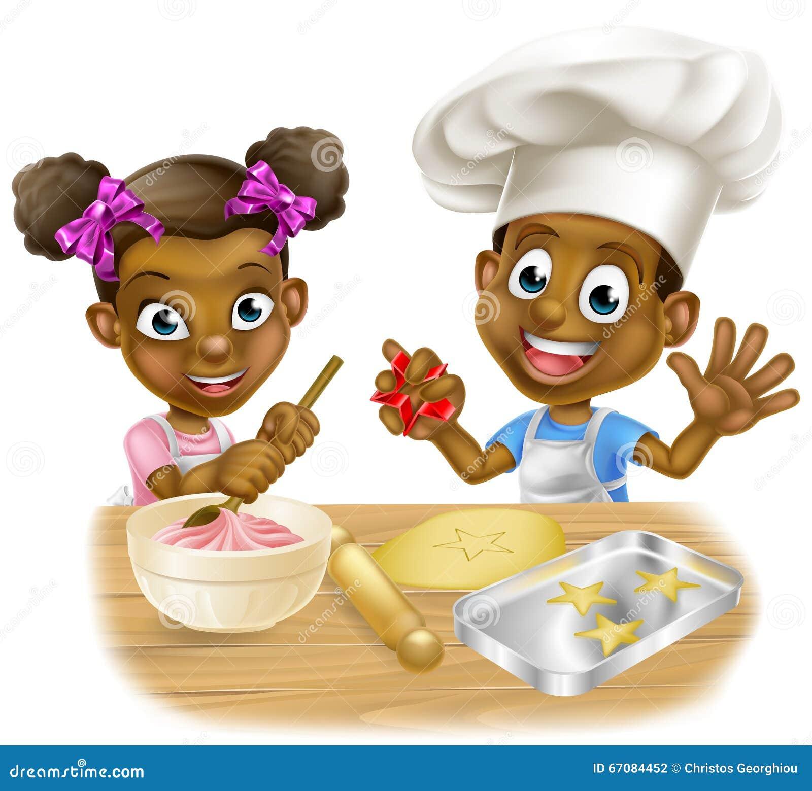 Cartoon Children Bakers Stock Vector Image 67084452