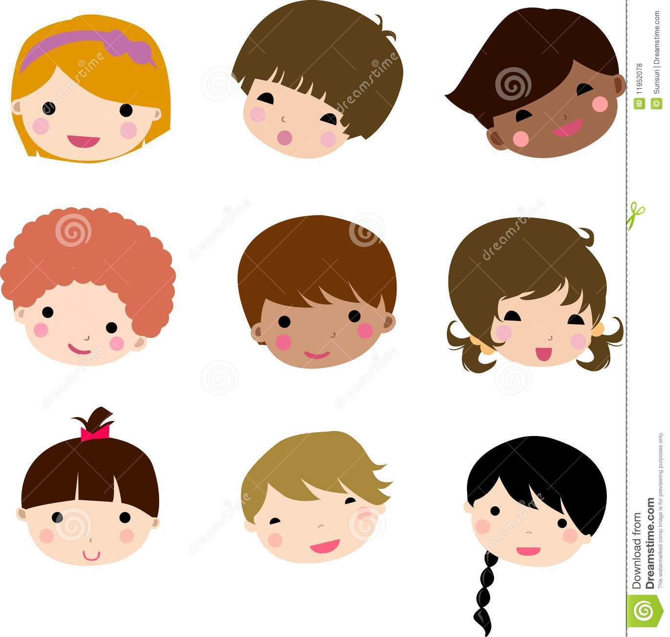 Cartoon Children Face Royalty Free Stock Image - Image: 18488656
