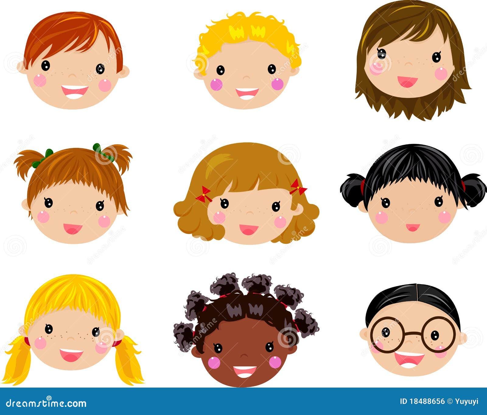 Cartoon Children Face Royalty Free Stock Image - Image: 18488656