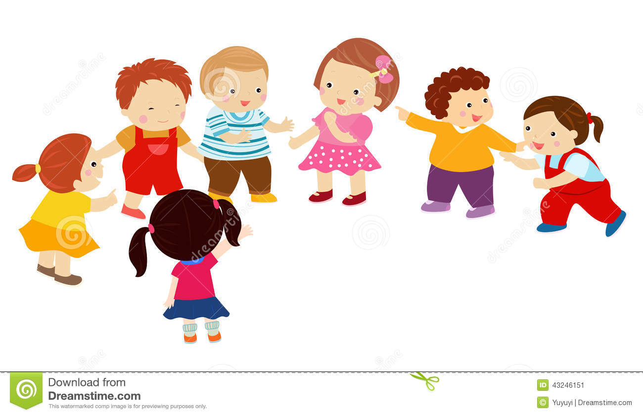 Cartoon Children Playing Stock Vector. Illustration Of