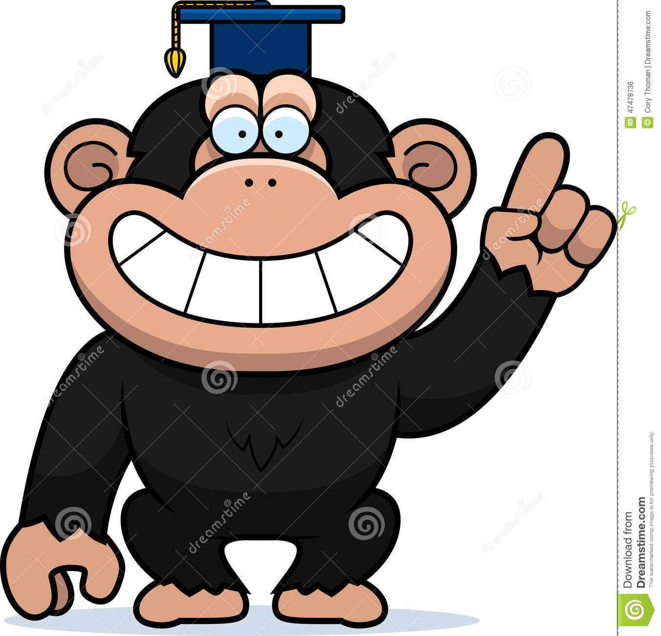 Cartoon Chimpanzee Professor Stock Vector - Image: 47478736