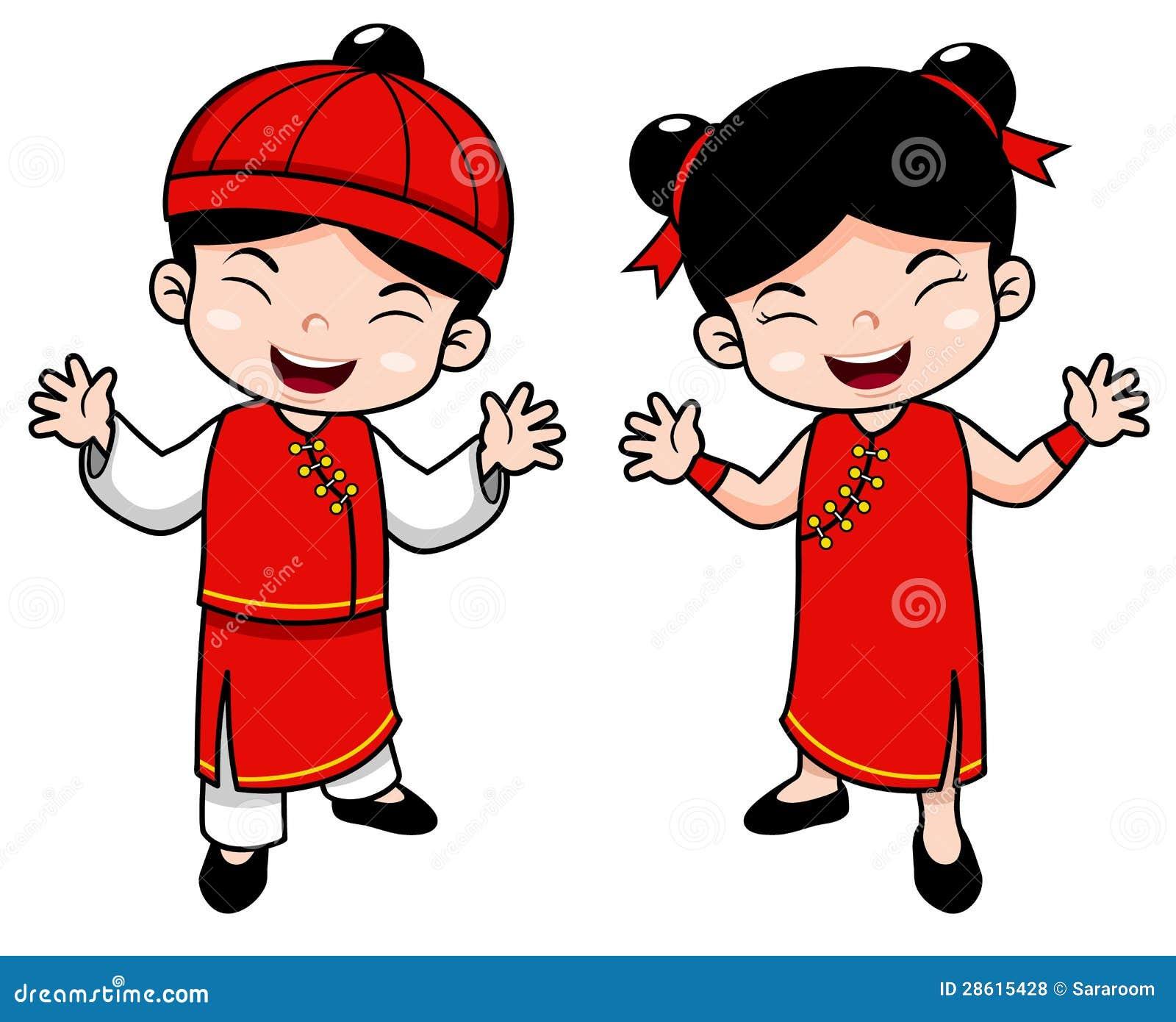 Cartoon Chinese Kids Royalty Free Stock Photos - Image: 28615428
