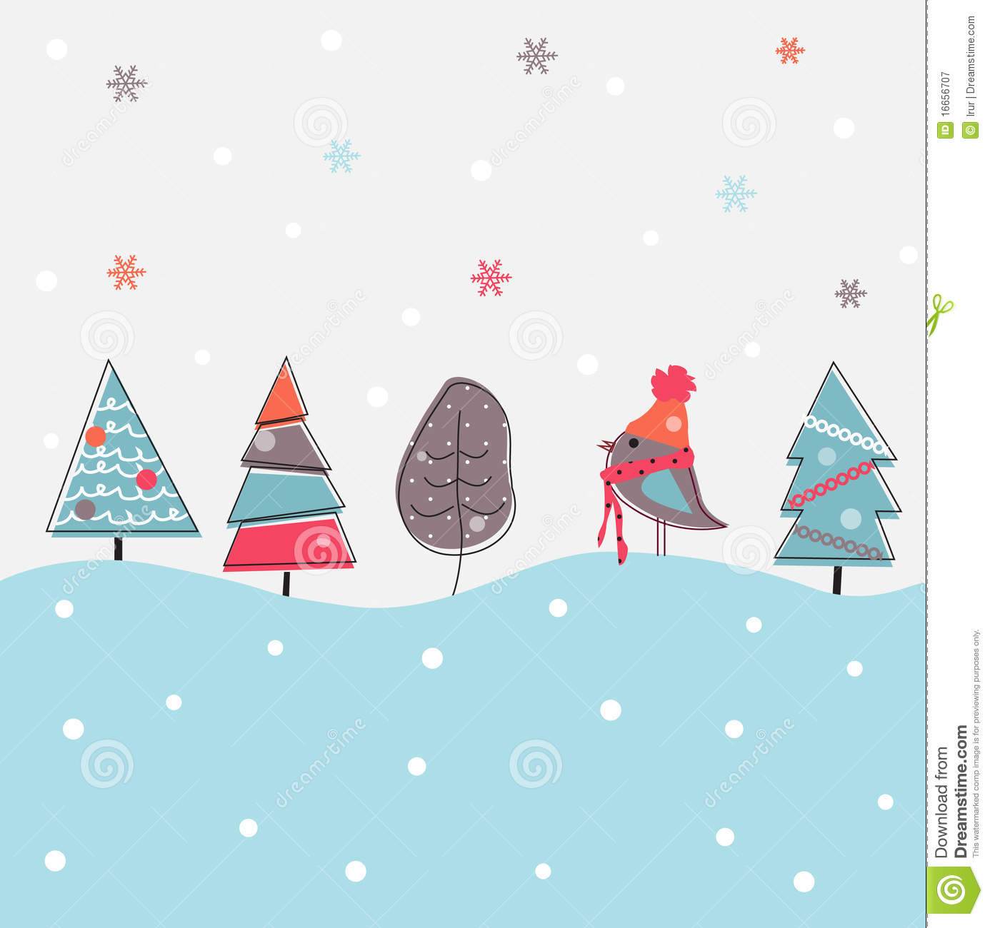 cartoon christmas background royalty free stock