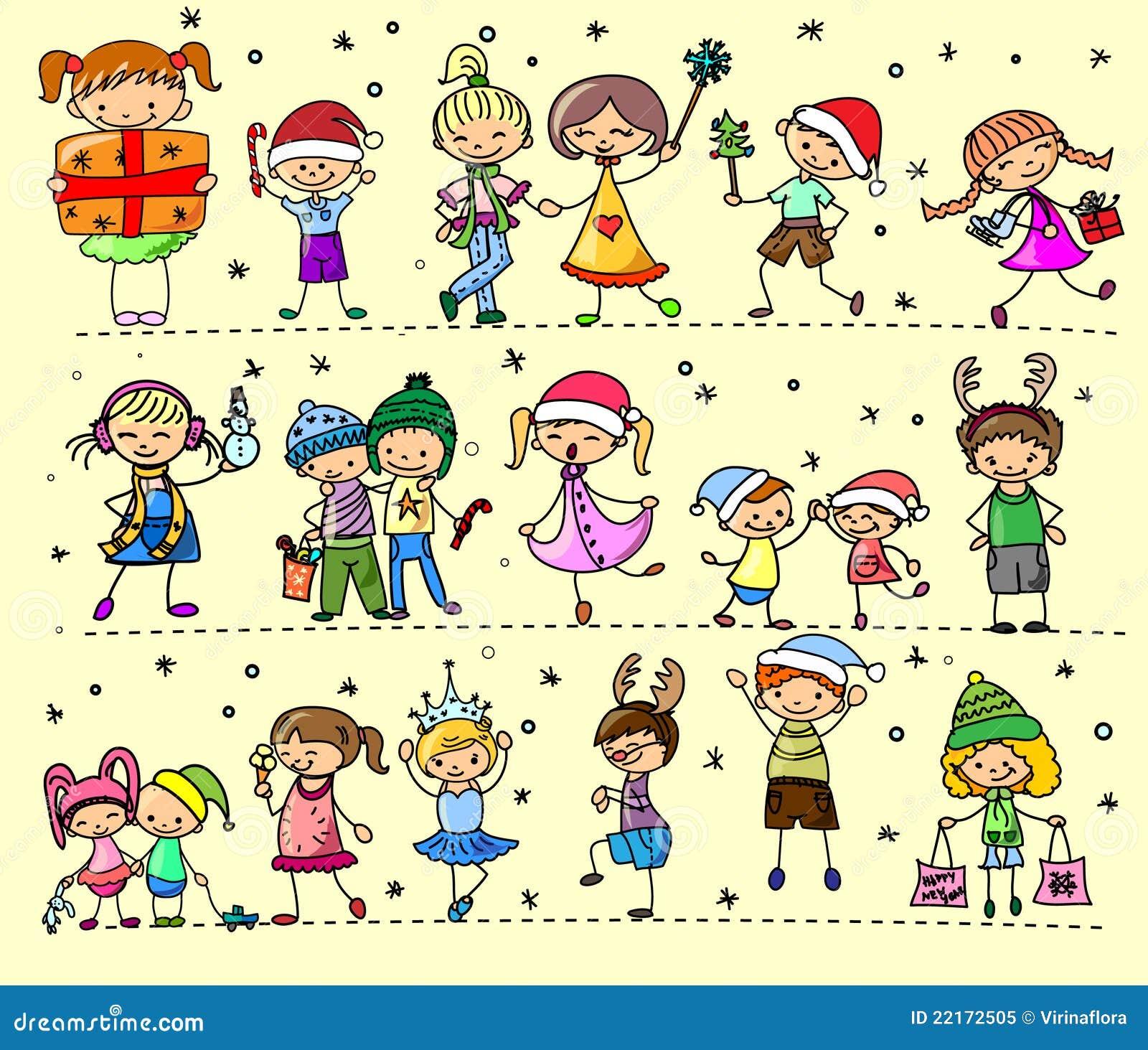 Cartoon Christmas Children, Vector Royalty Free Stock Photo - Image ...