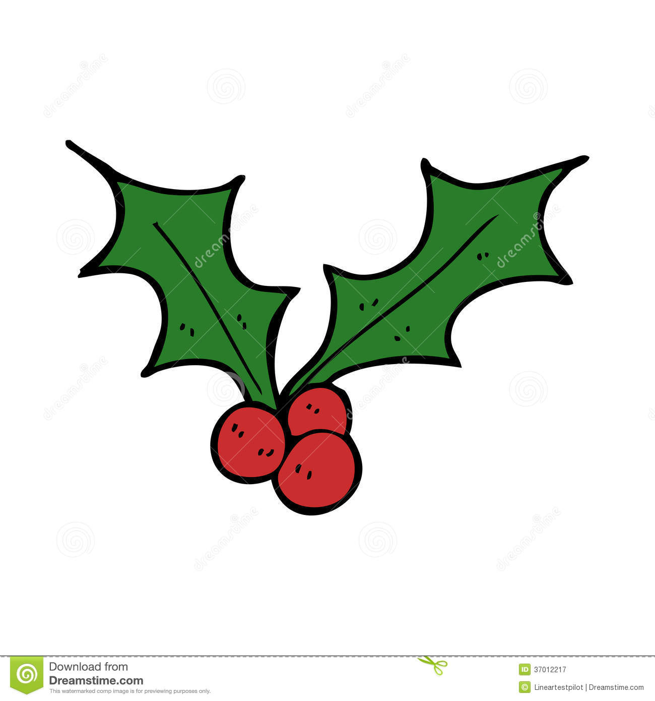 Cartoon christmas holly stock vector illustration of for Holl image
