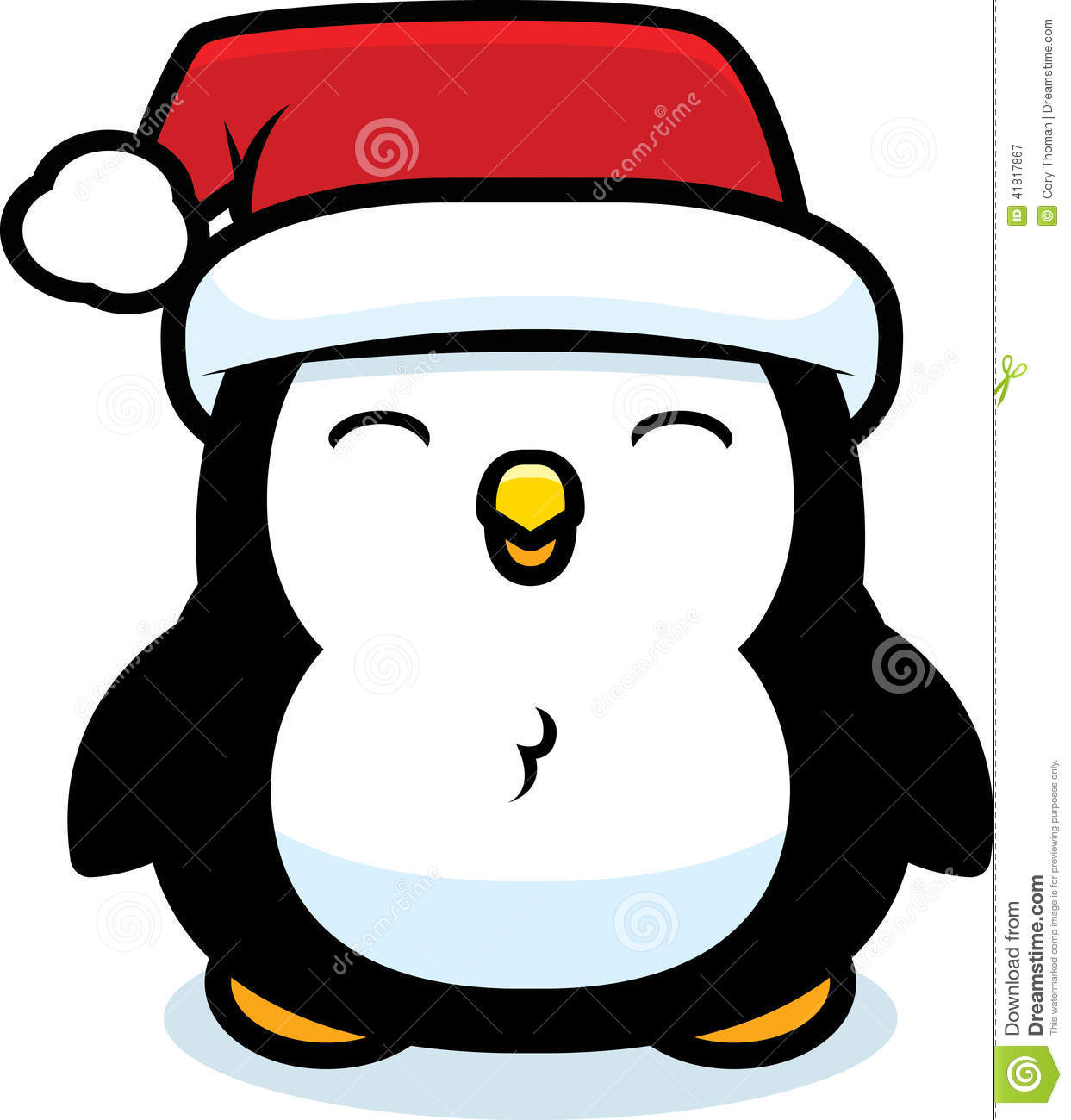 cartoon christmas penguin stock vector illustration of young 41817867
