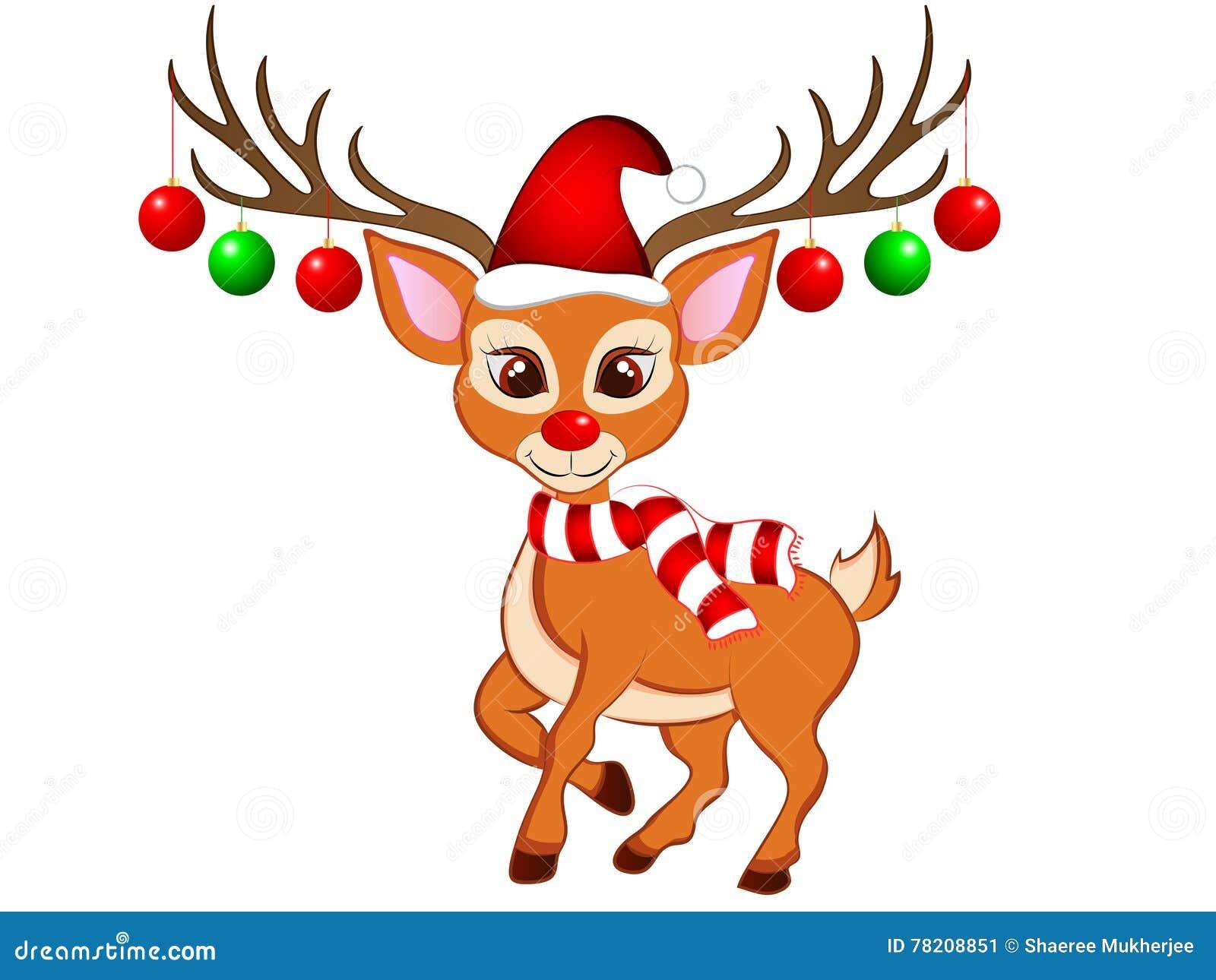 New Christmas Reindeer Clip Art